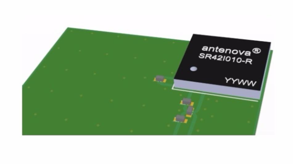Antenova hat die Grandis-Antennen für die Positionierung in der Ecke einer Platine optimiert.