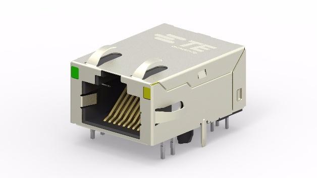 TE Connectivity stellt neue industriegerechte RJ45-Buchsen mit integrierten magnetischen Bauteilen vor.