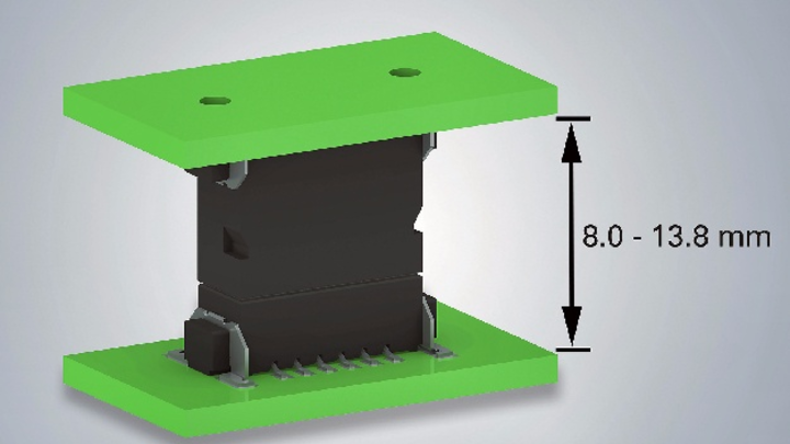 Leiterplatten in unterschiedlichen Abständen stapeln