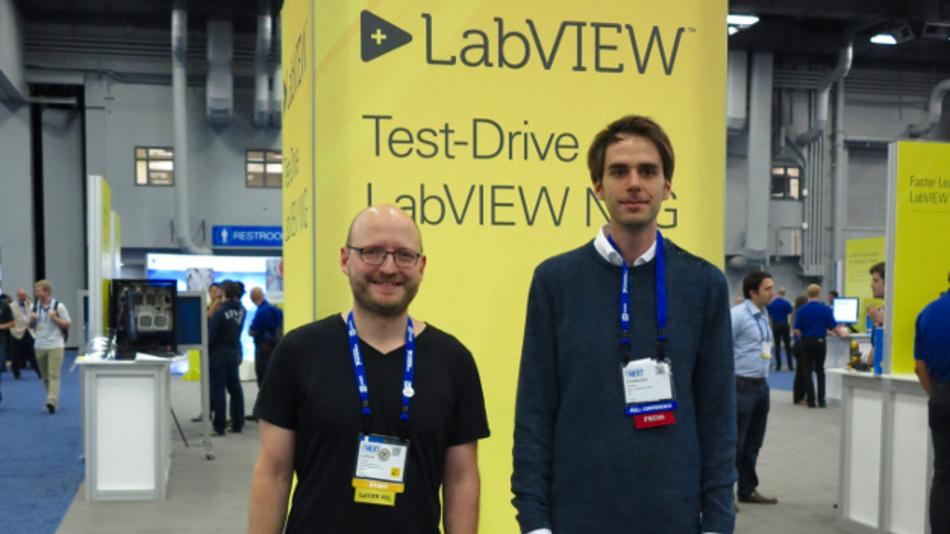LabVIEW-Guru Lorenz Casper (links)  und Dr. Constantin Tomaras (rechts) auf der #NIWeek2017.