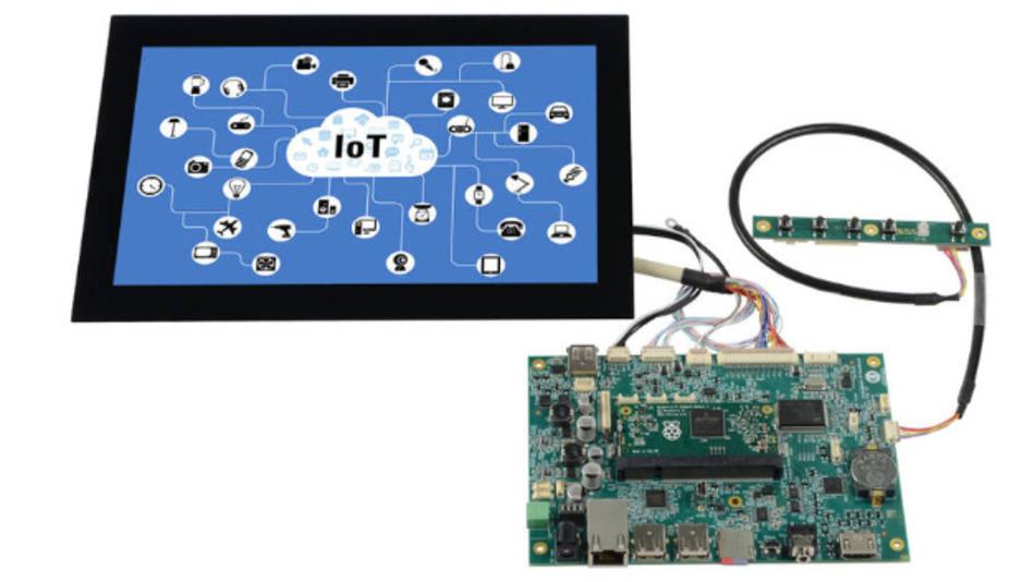 Distecs Starterkit Artista-IoT erlaubt das Anschließen vieler gängiger TFT-Displays ohne zusätzliche Hardware.