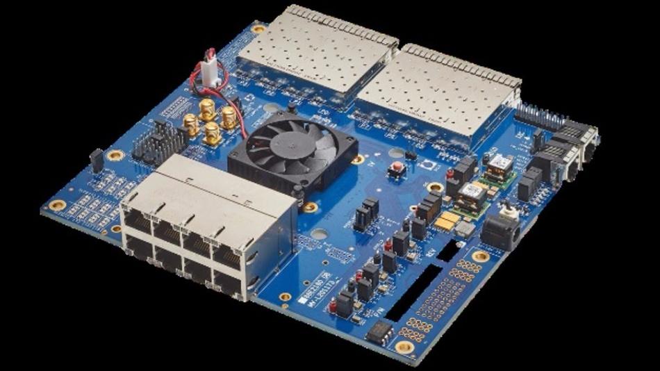 """Marvell bietet für seinen Ethernet-Transceiver """"Alaska M88E2180"""" ein passendes Entwicklungs-Board an."""