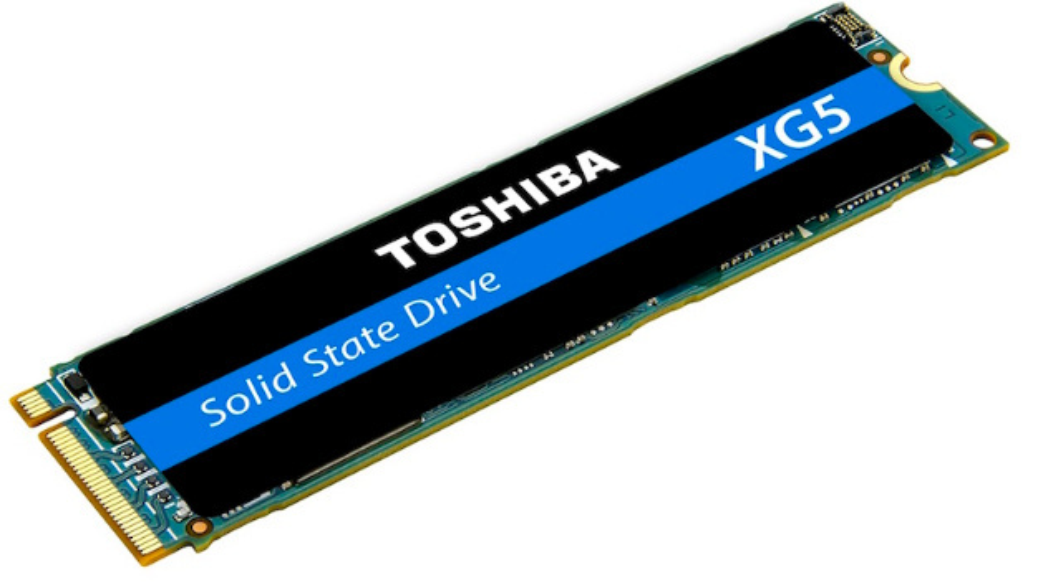 Das PCIe-Interface bei Toshibas SSD-Familie XG5 sorgt für sequenzielle Leseschwindigkeiten von bis zu 3000 MByte/s.