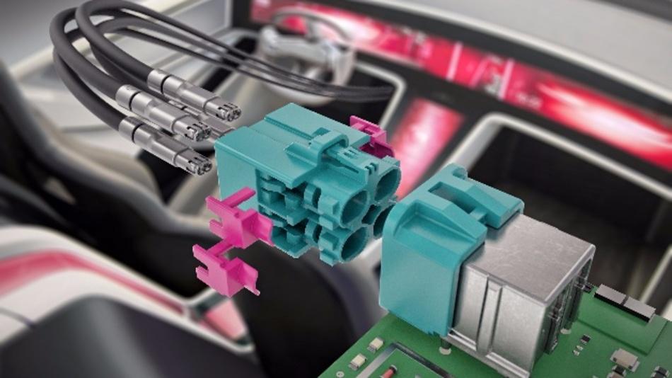 Rosenberger H-MTD-Steckverbinder ermöglichen Bitraten-Datenübertragung bis zu 15 GHz.