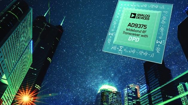 Die Verlagerung des DPD-Systems vom FPGA auf den AD9375-Transceiver halbiert die Zahl der benötigten seriellen JESD204B-Lanes, was eine gravierende Senkung des Stromverbrauchs mit sich bringt.