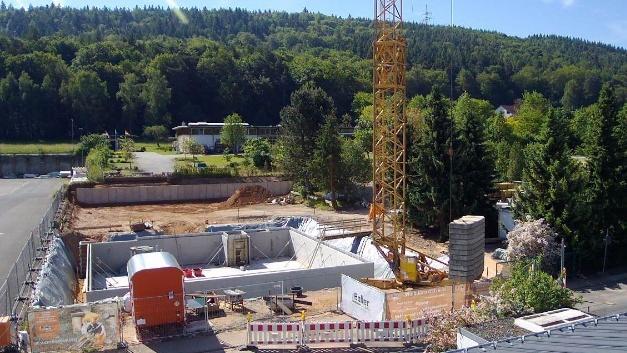 Blick auf die Baustelle, Stand 28.05.2017.