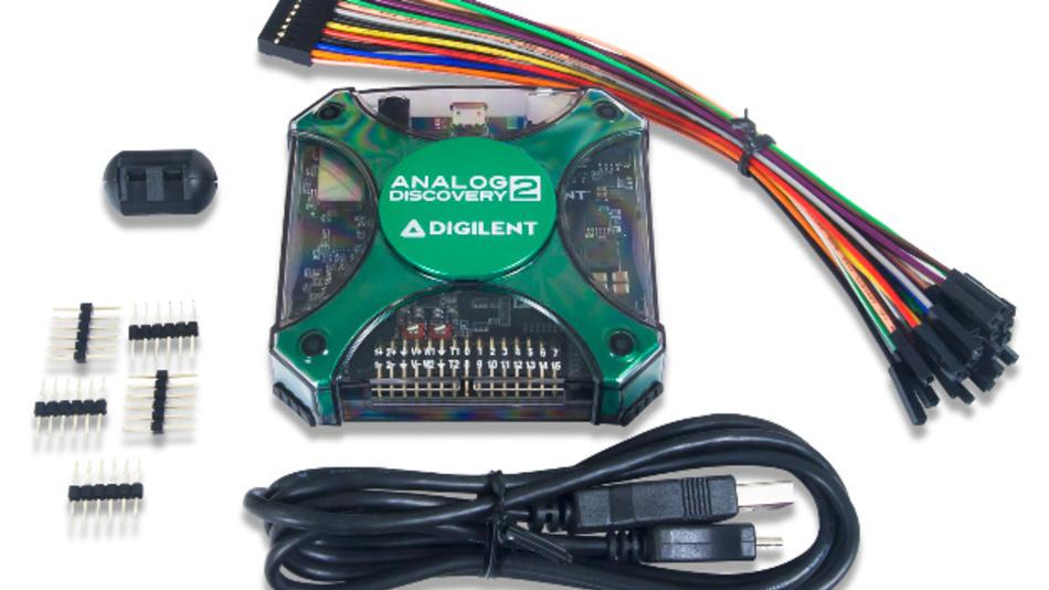 Das USB-Digital-Oszilloskop Analog Discovery 2 von Digilent