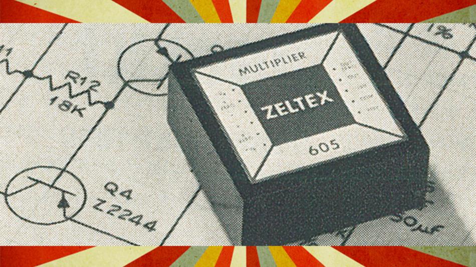 Ein Vierquadranten-Multiplizierer aus dem Jahr 1969.