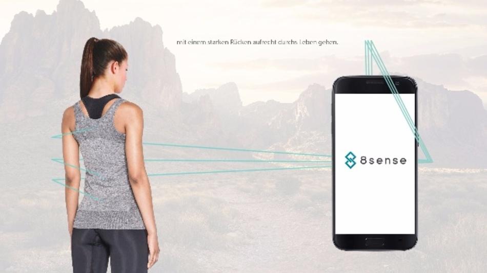 Neuartiges Sensor-Shirt von 8sense gegen Rückenleiden