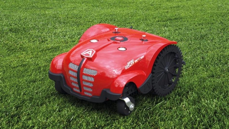 Rasenmäher-Roboter mit Cloud-Anschluss und App-Steuerung.