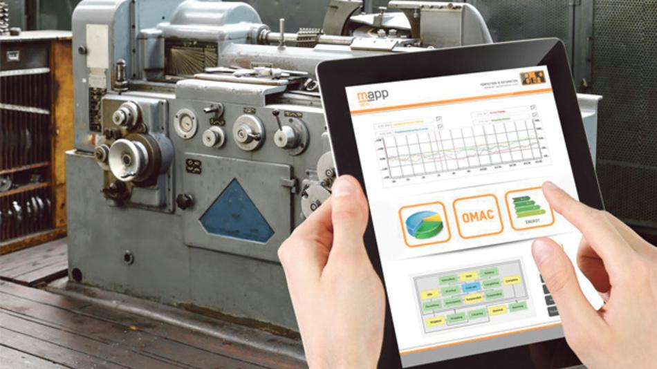 Die 'Orange Box' von B&R sammelt Daten von bisher unvernetzten Maschinen und Linien und wertet diese aus.
