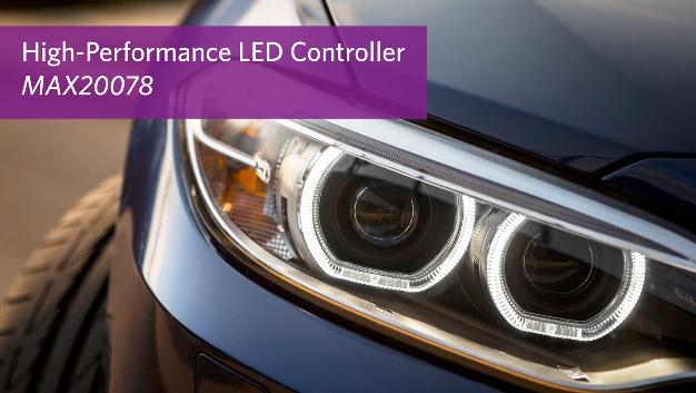 Der Automotive LED-Controller von Maxim ermöglicht schnelle Ansprechzeit bei geringer EMI in KFZ-Außenbeleuchtungen.