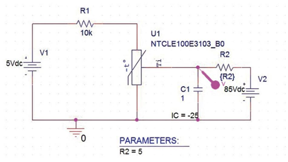 Abb. 2: Modell mit einfachem RC-Glied