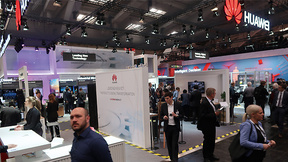 Huawei-Stand auf der Hannover Messe 2017