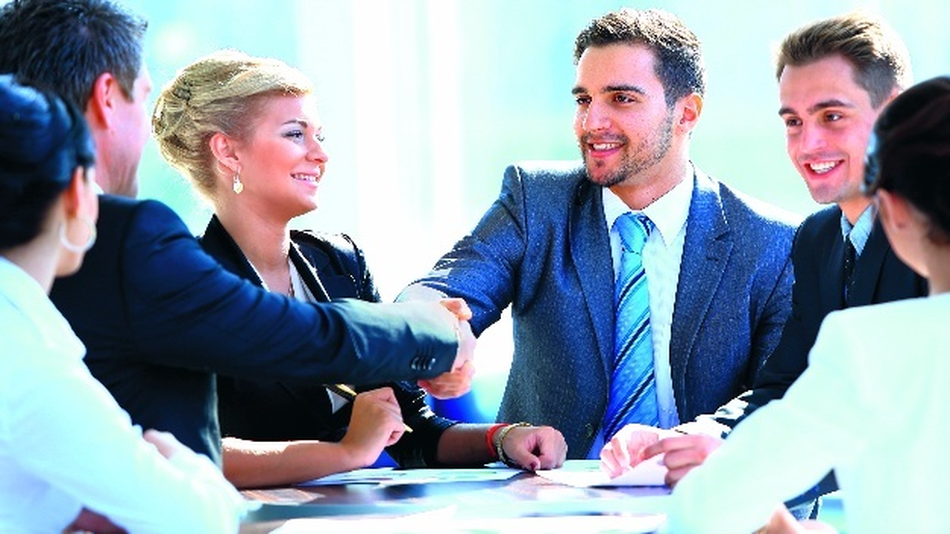 Kundengespräche in positiver Atmosphäre
