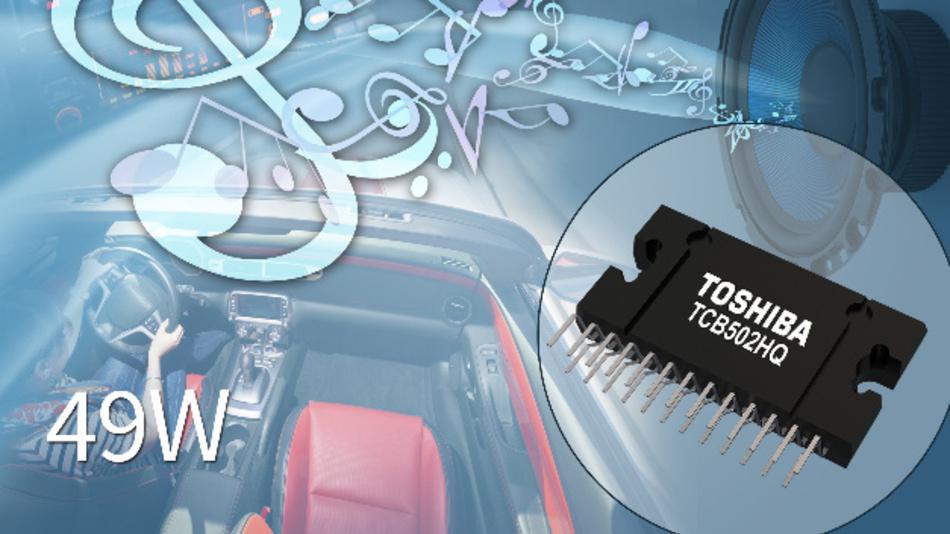 Der TCB502HQ von Toshiba bietet auf vier Kanälen eine maximale Leistung von 49 W.