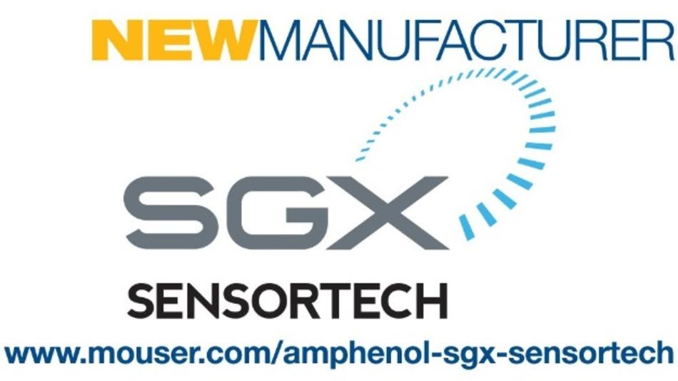 Mouser Electronics und Amphenol SGX Sensortech schließen ein Vertriebsabkommen