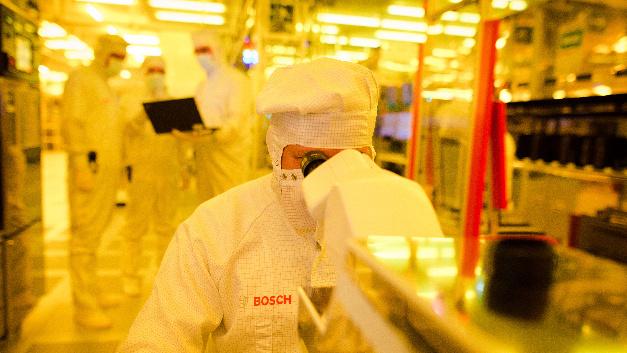 Blick in die Chip-Fertigung von Bosch