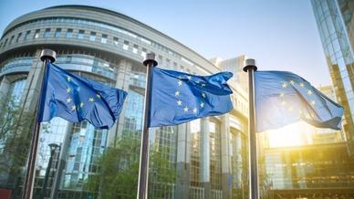 Europäisches Parlament Brüssel EU-Flaggen