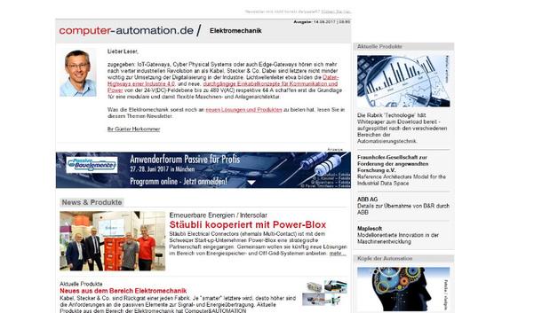 8bb50548d3 Kostenloser Newsletter: Jetzt den Computer&AUTOMATION Newsletter ...