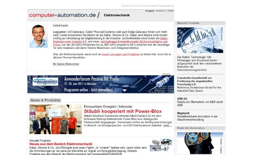 Computer&AUTOMATION der Newsletter