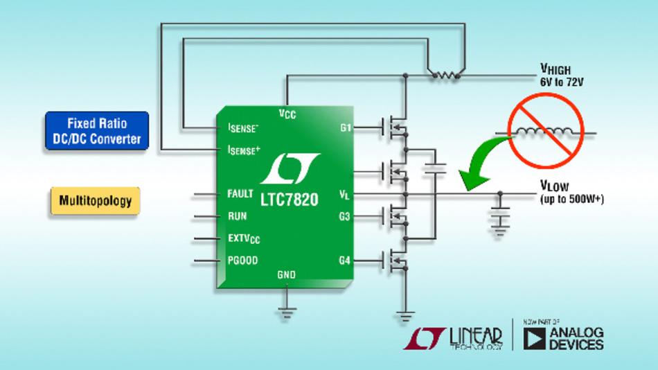 72-V-Hochleistungs-Ladungspumpen-Controller mit festem Übersetzungsverhältnis.