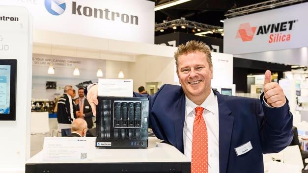 Kontron-CEO Hannes Niederhauser auf der Embedded World 2017.