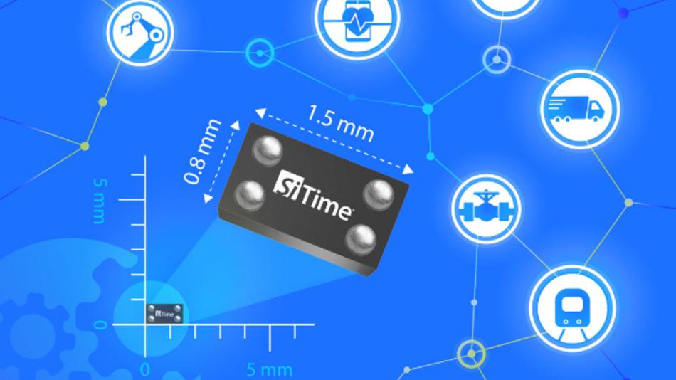Eine Stromaufnahme von nur 5,5 µA (SiT1576) bzw. 2,5 µA (SiT1569) zeichnet SiTimes MEMS-Taktgeberbausteine aus.