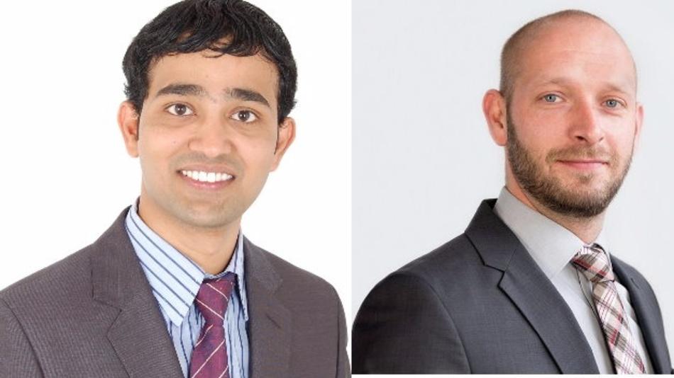 Sandeep Reddy Cherukupalli, Niederlassungsleiter Goepel Electronics India, und Jörg Schneider, Geschäftsführer Automotive Test Solutions von Göpel Electronic