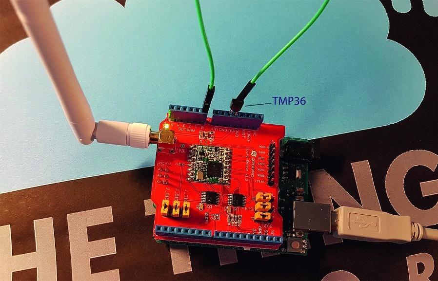 Bild 8: Dragino LoRa Shield für Arduino.