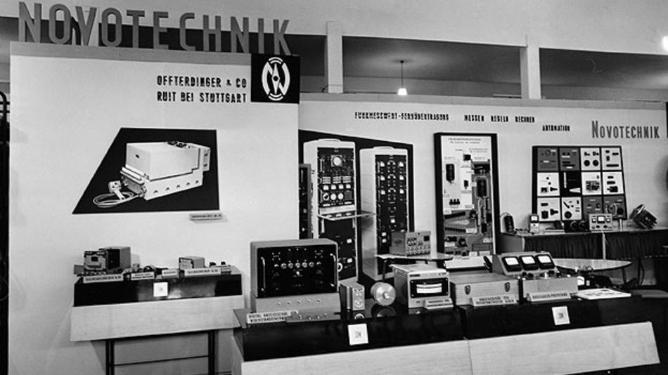 Bild 2. Novotechnik präsentierte die Potentiometer auch auf Fachmessen.