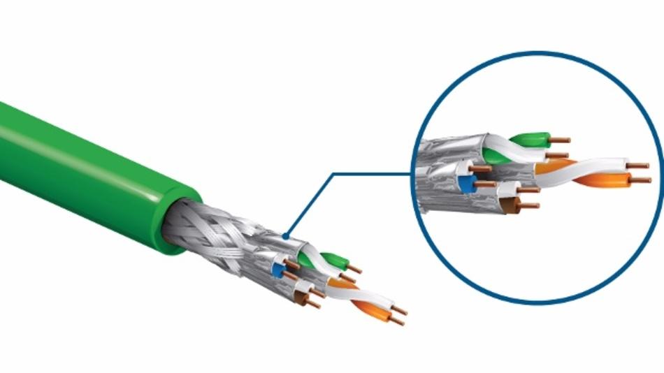 Die Cat6a PROFINET Kabel von Belden übertragen Daten mit bis zu 10GBit/s.