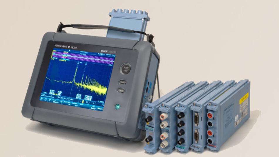Der ScopeCorder DL350 vereint die Vorteile von Oszilloskop und Rekorder mit verschiedenen Messmodulen.