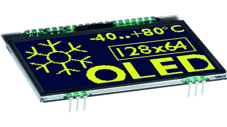 Durch extrem weite Blickwinkel von etwa 170 Grad und eine typische Reaktionszeit von 10 µs zeichnet sich Electronic Assemblys OLED-Display OLEDL128-6 aus.
