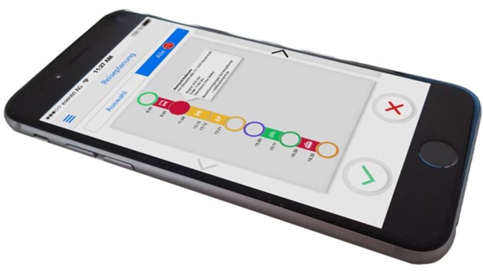 Im Projekt BiE plant ein persönlicher Mobilitätsassistent als App wie sich die Wege zwischen den Tagesterminen optimal bestreiten lassen.