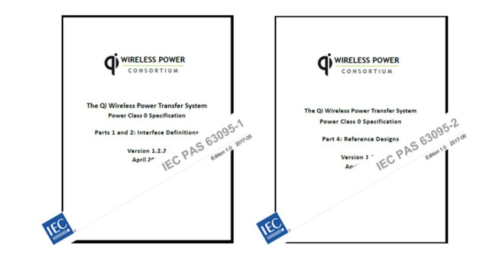 Der Qi-Standard des Wireless Power Consortiums (WPC) wird zur IEC Norm IEC PAS 63095-1 und -2.