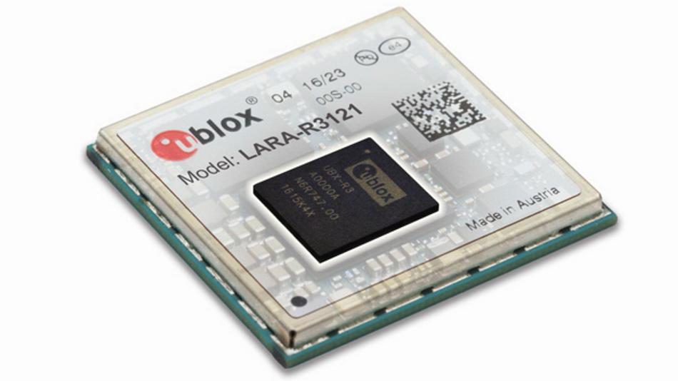 LTE-Funkmodul LARA-R3121 von u-blox bietet Sicherheitsfunktionen für M2M und industrielles IoT.