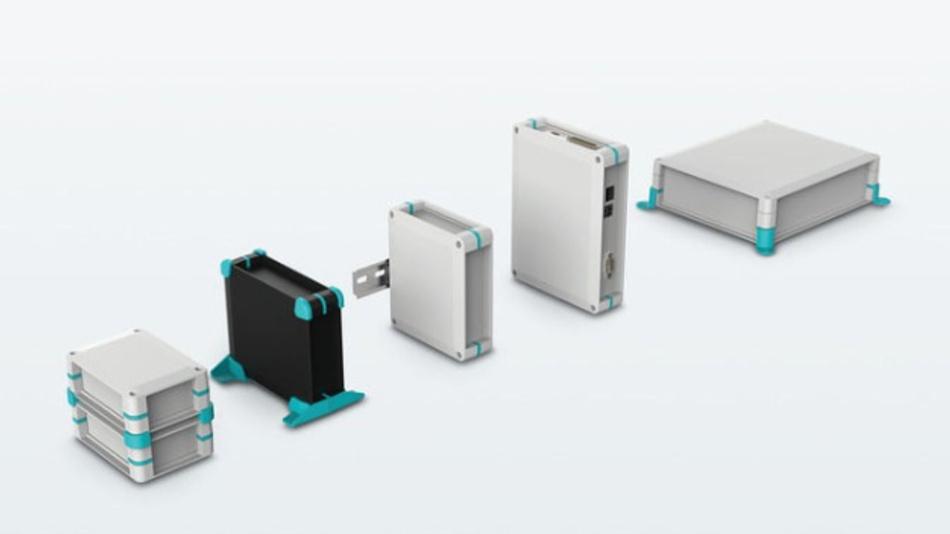 Für den Einsatz bei Temperaturen von -40 bis +85 °C eignen sich die modular aufgebauten Gehäuse UCS von Phoenix Contact.