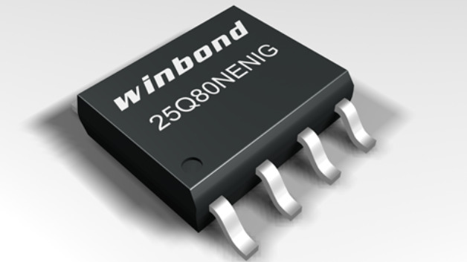Der SpiFlash von Winbond arbetiet mit Spannungen ab 1,14 Volt.