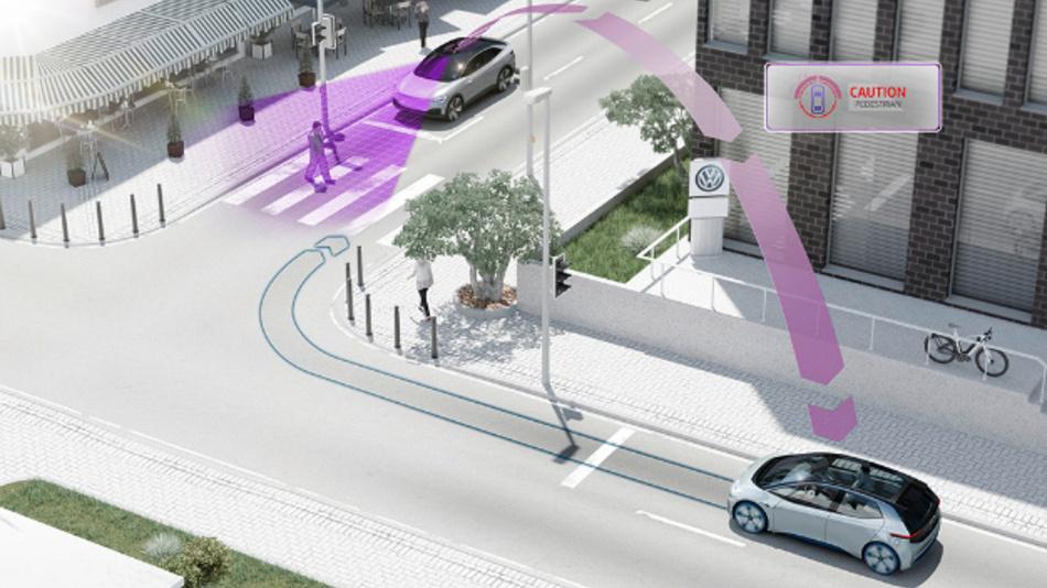 Fahrzeugvernetzung erhöht die Sicherheit im Straßenverkehr.