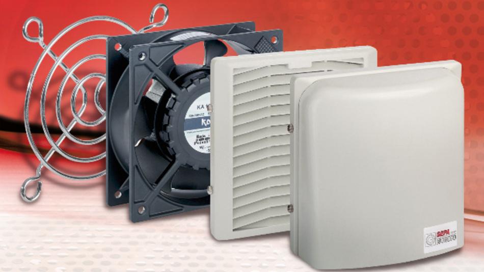 Maßgeschneiderte Lösungen lassen sich mit SEPAs Filterlüftern dank Baukastenystem einfach realisieren.
