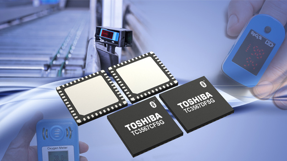 Mit zwei neue Bluetooth-ICs TC3567CFSG und TC3567DFSG ergänzt Toshiba Electronics Europe sein Angebot.