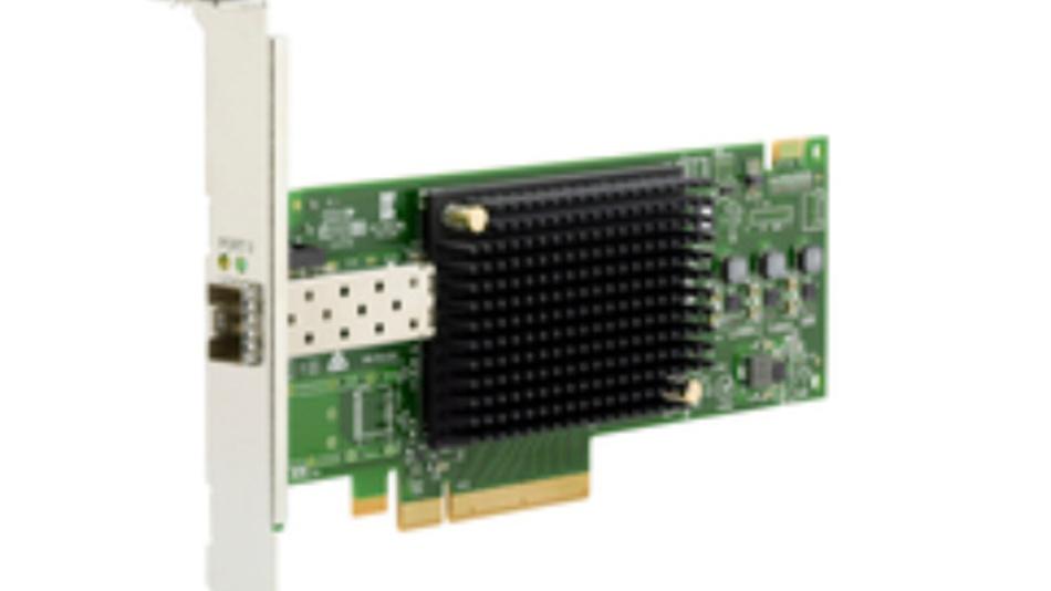 Der  Fibre Channel Host Bus Adapter vom Typ Emulex Gen 6 (16/32Gb) der LPe31000/LPe32000-Serien von Broadcom