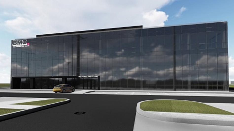 Das neue Firmengebäude »Alberta Einsteina« der BMZ Batterien-Montage-Zentrum GmbH in Gliwice, Polen