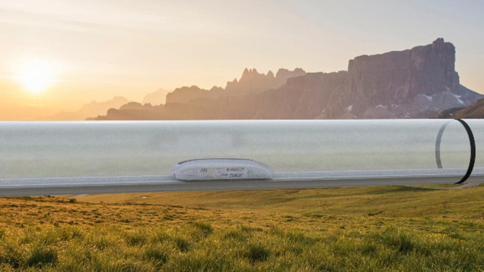 Projektstudie Hyperloop: so kann es aussehen.