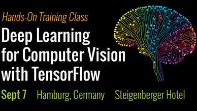 In Hamburg findet am 7. September eine Schulung zum Thema »Deep Learning for Computer Vision with TensorFlow« statt.