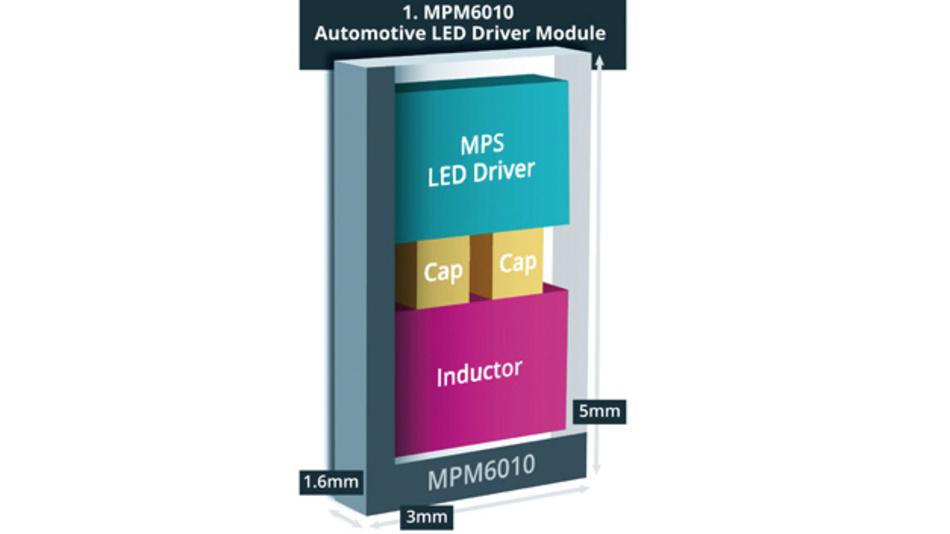 Schematischer Aufbau des LED-Treiber-Moduls