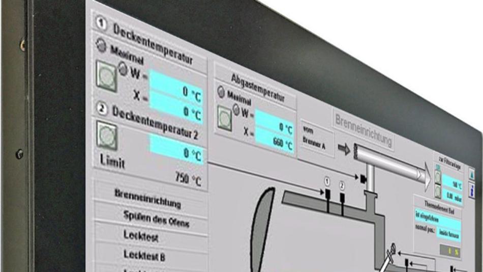 Die Frontseite aus Glas schützt bei reikotronics großformatigen TFT-Displays gemäß IP65.