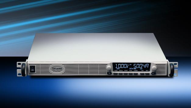 Das Labornetzteil Genesys+ bietet 5 kW in einem 1-HE-19-Zoll-Gehäuse