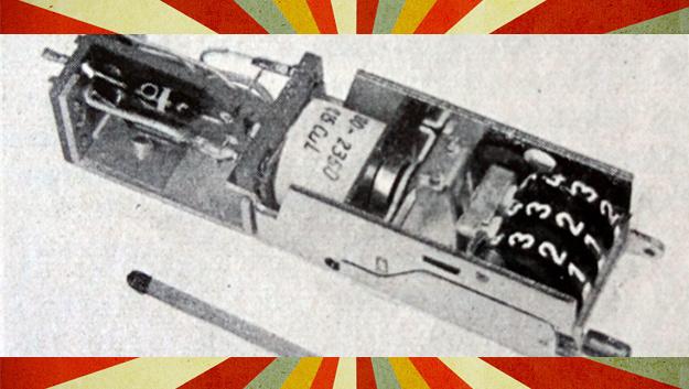 Ein Impulszähler mit integrierter Transistorstufe aus dem Jahr 1959.